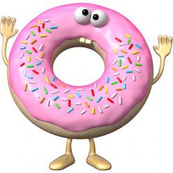 Stickers effet 3D- Donut