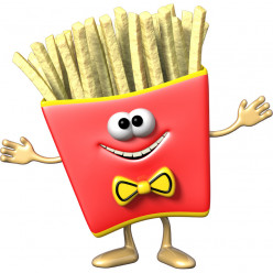 Stickers effet 3D- Frites