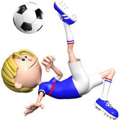 Stickers effet 3D- Joueur de foot 4