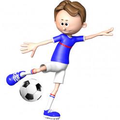 Stickers effet 3D- Joueur de foot 6