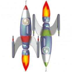 Stickers effet 3D- Kir Deux Fusées spaciales