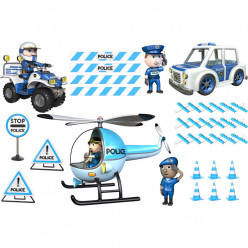 Stickers effet 3D- Kit Police 2