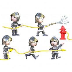 Stickers effet 3D- Kit Pompiers