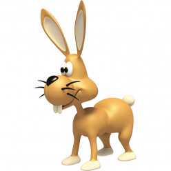Stickers effet 3D-Lapin