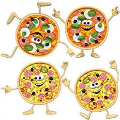 Stickers effet 3D Mini Pizzas