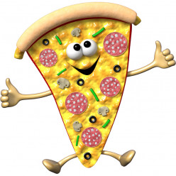Stickers effet 3D- Pizza