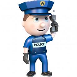 Stickers effet 3D- Policier