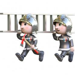 Stickers effet 3D- Pompiers