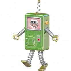 Stickers effet 3D- Robot