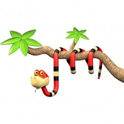 Stickers effet 3D- Serpent 4