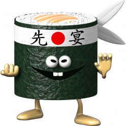Stickers effet 3D- Sushi