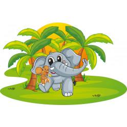 Stickers éléphanteau souris