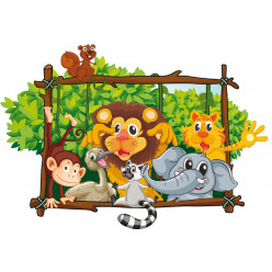Stickers enfants animaux
