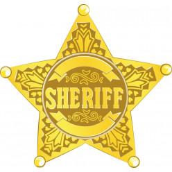 Stickers étoile shériff