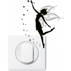 Stickers fée pour prise et interrupteur