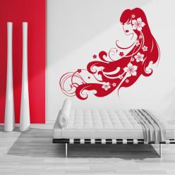 Stickers femme asiatique