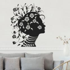Stickers femme fleurs design