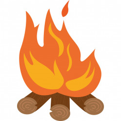 Stickers feu de bois