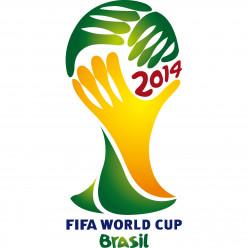 Stickers Foot Coupe du monde Brésil 2014