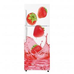 Stickers Frigo - fraises