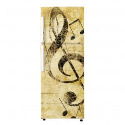 Stickers Frigo - Note Musique