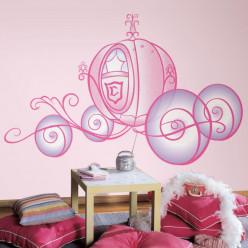 Stickers géant Carrosse de Princesse Disney