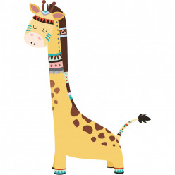 Stickers girafe indienne