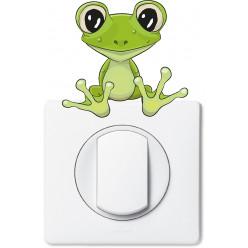 Stickers grenouille pour prise et interrupteur
