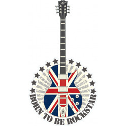 Stickers guitare uk rock star