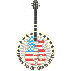 Stickers guitare usa