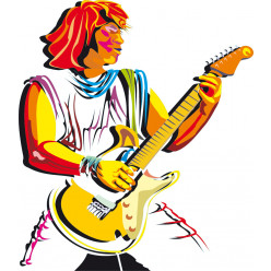 Stickers guitariste