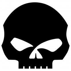 Stickers harley-davidson skull
