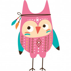 Stickers hibou indien