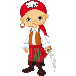 Stickers jeune pirate