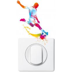 Stickers joueur de foot pour prise et interrupteur