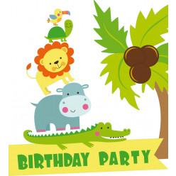 Stickers jungle anniversaire