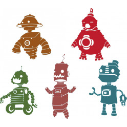 Stickers kit 5 robots