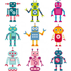 Stickers kit 9 robots
