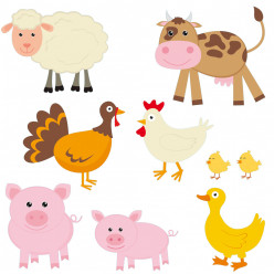 Stickers kit animaux de la ferme