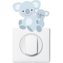 Stickers koala pour prise et interrupteur