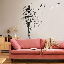 Stickers lampadaire oiseaux