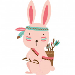 Stickers lapin indien