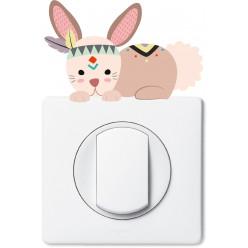 Stickers lapin pour prise et interrupteur