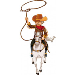 Stickers lasso cowboy