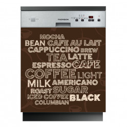 Stickers lave vaisselle coffee