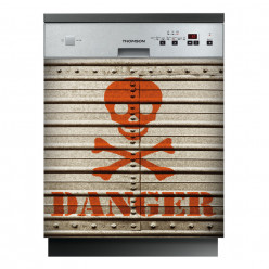 Stickers lave vaisselle danger