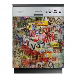 Stickers lave vaisselle mots