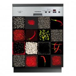 Stickers lave vaisselle piments
