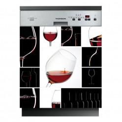Stickers lave vaisselle vin