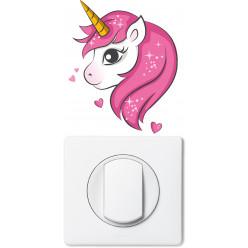 Stickers licorne pour prise et interrupteur